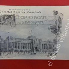 Postales: ANTIGUA POSTAL PUBLICITARIA CHOCOLAT EXPRESS GRONDARD. EXPOSICION PARIS 1900. Lote 160327166