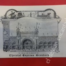 Postales: ANTIGUA POSTAL PUBLICITARIA CHOCOLAT EXPRESS GRONDARD. EXPOSICION PARIS 1900. Lote 160327222