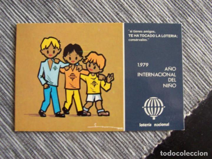 POSTAL PUBLICITARIA DE LOTERIA NACIONAL, 1979. AÑO INTERNACIONAL DEL NIÑO (Postales - Postales Temáticas - Publicitarias)