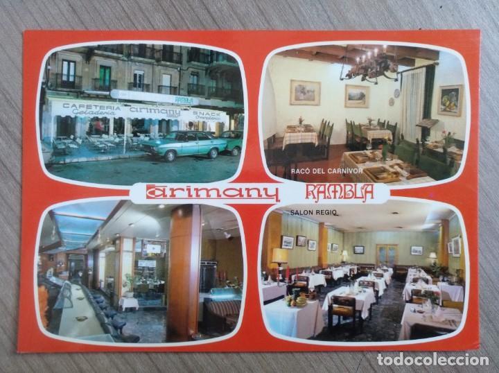 POSTAL CAFETERIA PASTELERIA ARIMANY - TARRAGONA (Postales - Postales Temáticas - Publicitarias)