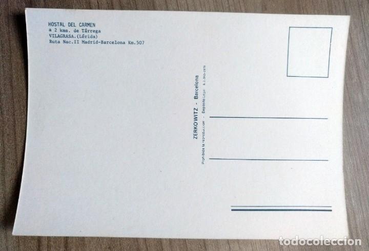 Postales: postal publicitaria hostal del carmen, vilagrasa, lerida, lleida - zerkowitz - Foto 2 - 160636126