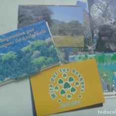 Postales: COLECCION 18 POSTALES PUBLICITARIA JUNTA DE ANDALUCIA: COMPROMISO POR LOS BOSQUES, MIRA POR TUS BOSQ. Lote 160636810