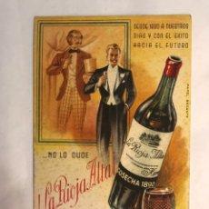 Cartes Postales: HARO (LA RIOJA) PUBLICIDAD. LA RIOJA ALTAL. COSECHA 1890. PAPEL SECANTE. Lote 161501160