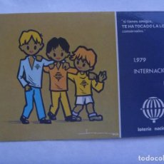 Postcards - POSTAL PUBLICITARIA LOTERIA NACIONAL , 1979. DIBUJO AÑO INTERNACIONAL DEL NIÑO - 161857062