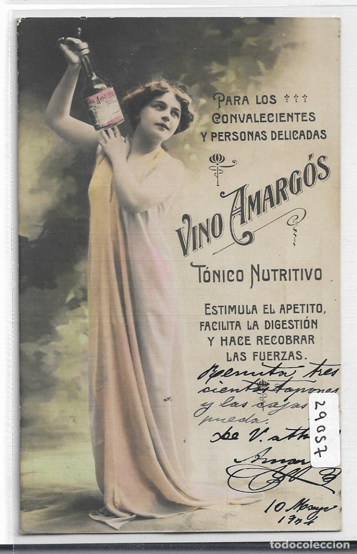 VINO AMARGÓS - TÓNICO NUTRITIVO - P29057 (Postales - Postales Temáticas - Publicitarias)