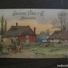 Postales: GALLETAS VIÑAS Y CIA-BARCELONA-POSTAL PUBLICITARIA ANTIGUA-VER FOTOS(59.128). Lote 162635518