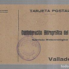 Postales: TARJETA POSTAL. PUBLICITARIA. CONFEDERACION HIDROGRAFICA DEL DUERO. VALLADOLID. 1943. Lote 162686234