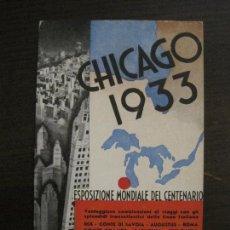 Postales: CHICAGO 1933-EXPOSICION MUNDIAL DEL CENTENARIO-POSTAL ANTIGUA PUBLICITARIA-VER FOTOS-(59.202). Lote 163124286