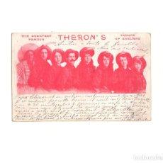 Postales: POSTAL GRUPO DE MUSICA THERON´S 1908.. Lote 163733386