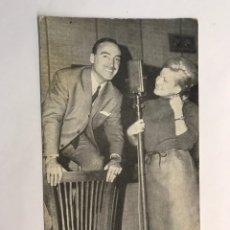 Postales: VALENCIA. POSTAL CLUB DE LA MAÑANA. ISABEL Y TONI. RADIO PENINSULAR. DEDICADA (A.1969). Lote 163793612
