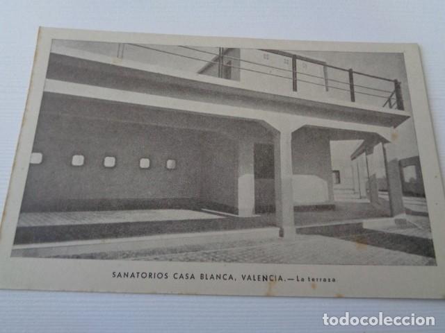 VALENCIA. SANATORIO CASA BLANCA. DETALLE DE LA TERRAZA. (Postales - Postales Temáticas - Publicitarias)