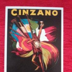 Postales: VERMOUTH TORINO -CINZANO-. Lote 163939292