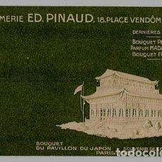 Postales: POSTAL PUBLICITARIA PERFUMERIA, PARFUMERIE ED. PINAUD, PARIS. EXPOSICION UNIVERSAL 1900.. Lote 163971450