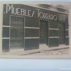 Postales: POSTAL PUBLICITARIA DE MUEBLES TORRADO, HUELVA . AÑOS 40 .. DETRAS ES UNA FACTURA. Lote 164942910