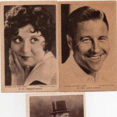 Postales: 3 POSTALES PUBLICITARIAS,ESTRELLAS DEL CINE. Lote 165039394