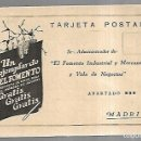Postales: TARJETA POSTAL PUBLICITARIA. UN EJEMPLAR DE EL FOMENTO. MADRID.. Lote 165164114