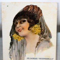 Postales: POSTAL PUBLICITARIA DE ESTILO MODERNISTA. ILUSTRADA POR R. MIR - PILDORAS HERMOSILLA - SIN CIRCULAR. Lote 165167882