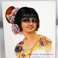 Postales: POSTAL PUBLICITARIA DE ESTILO MODERNISTA. ILUSTRADA POR R. MIR - PILDORAS HERMOSILLA - SIN CIRCULAR. Lote 165169110