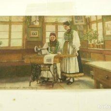 Postales: POSTAL PUBLICITARIA SINGER ORIGINAL SIN CIRCULAR. Lote 165995726