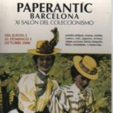 Postales: POSTAL MODERNISTA PUBLICIDAD PAPERANTIC BARCELONA 2008. Lote 166804322