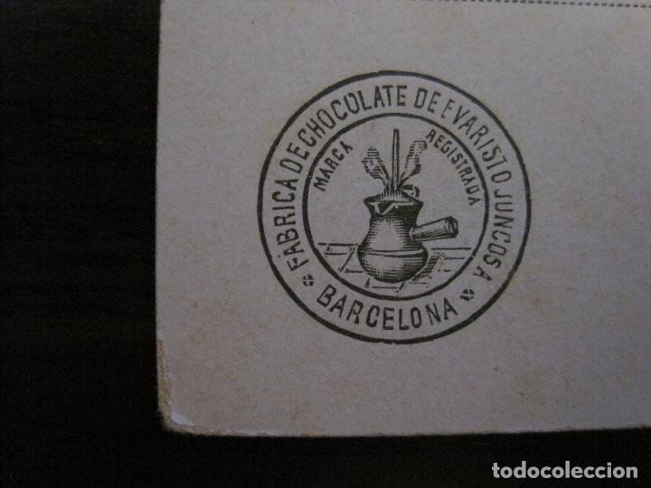 Postales: POSTAL MODERNISTA-CHOCOLATE EVARISTO JUNCOSA-REVERSO SIN DIVIDIR-VER FOTOS-(59.955) - Foto 3 - 166943916