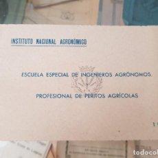 Postales: ANTIGUAS POSTALES ESCUELA DE INGENIEROS AGRONOMOS Y PERITOS AGRICOLAS LA FLORIDA MADRID 1943. Lote 167008296