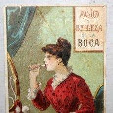 Postales: TARJETA PUBLICITARIA DE MENTHOLINA. SALUD Y BELLEZA DE LA BOCA. 9,5 M. X 6 CM. DR ANDREU.. Lote 167662004