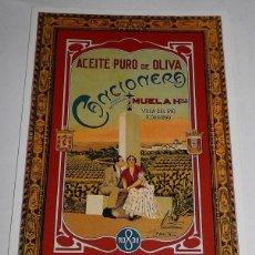 Postales: TARGETA POSTAL - ACEITE CANCIONERA. Lote 167756120