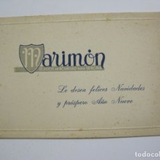 Postales: MARIMON-TEJIDOS DE NOVEDAD PARA SEÑORA-FELICITACION ANTIGUA DE NAVIDAD-VER FOTOS-(60.423). Lote 168198704