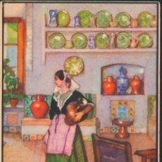 Postales: POSTAL ILUSTRADA DE ERWIN HUBER MALLORCA RINCÓN CASA TÍPICA , MULET, HOTEL VICTÓRIA. Lote 168329988
