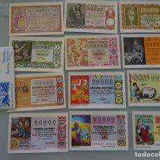 Postales: SERIE COMPLETA. 12 TARJETAS POSTALES. LOTERÍA NACIONAL. SERIE N SORTEO NAVIDAD. AÑO 1982. Lote 168479348