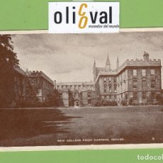 Postales: POSTAL HOTEL NEW COLLEGE FROM GARTDENS OXFORD ENGLAND FRANQUEADA DATADA 1950 PE2655. Lote 168504236