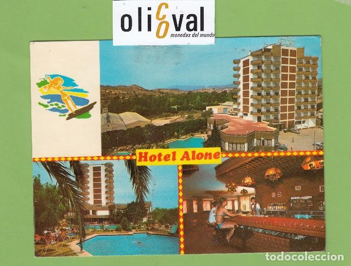 POSTAL HOTEL ALONE BENIDORM ALICANTE ESPAÑA DATADA1982 PE2670 (Postales - Postales Temáticas - Publicitarias)