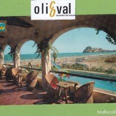 Postales: POSTAL HOTEL HOSTERIA DEL MAR PEÑISCOLA CASTELLON DATADA 1972 ESPAÑA PE2672. Lote 168621212