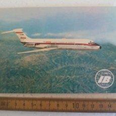 Postales: POSTAL SIN CIRCULAR PUBLICITARIA IBERIA. AVION JET DOUGLAS DC-9 POSTCARD. Lote 168801200