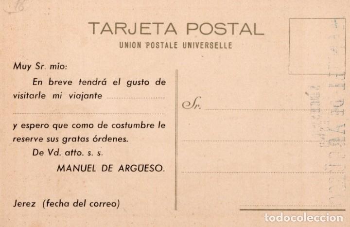 Postales: jerez. vinos coñacs y champagne gutierrez hnos - Foto 2 - 168988536