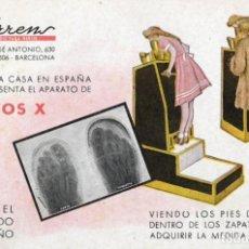 Postales: RAYOS X TORRENS. CALZADO DEL NIÑO. Lote 168990136