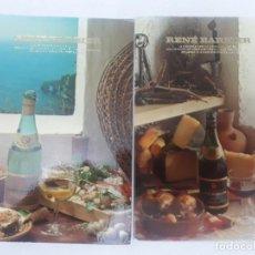 Postales: 21066 - 2 POSTALES DE PUBLICIDAD - RENE BARBIER . Lote 169159052