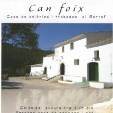 Postales: [POSTAL PUBLICITARIA] CAN FOIX. CASA DE COLÒNIES AL GARRAF (SIN CIRCULAR). Lote 169438520