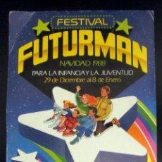 Postales: POSTAL CORREO POST CARD FESTIVAL FUTURMAN NAVIDAD 1988 FERIA DE ZARAGOZA. Lote 169843692