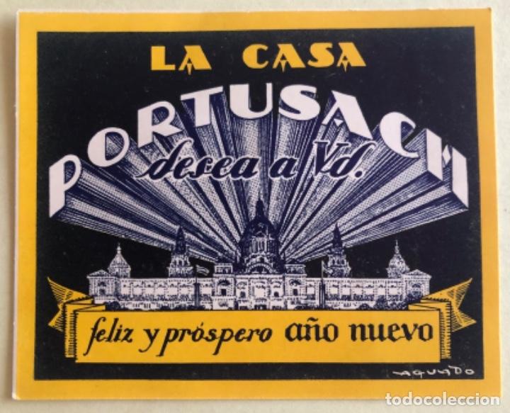 TARJETA PUBLICITARIA- RELOJES PERTUSACH- BARCELONA CA. 1.930 (Postales - Postales Temáticas - Publicitarias)