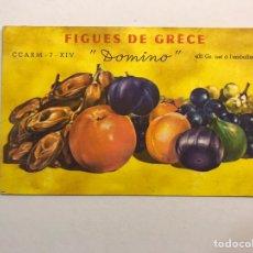 Postales: POSTAL. PUBLICIDAD. FIGUES DE GRECE - DOMINO (H.1950?). Lote 170466606