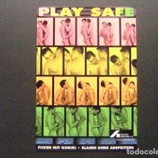 Postales: PREVENCION CONTRA EL VIH SIDA AIDS - PLAY SAFE - FICKEN MIT GUMMI - BLASEN OHNE ABSPRITZEN . Lote 170973269