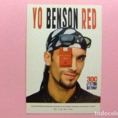 Postales: POSTAL PUBLICITARIA - YO BENSON RED (EL TABACO PERJUDICA) YO MOTERO. Lote 170977610