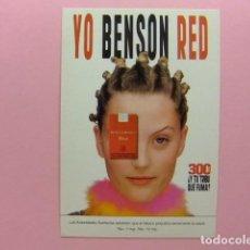 Postales: POSTAL PUBLICITARIA - YO BENSON RED (EL TABACO PERJUDICA) YO TECNO. Lote 170977930