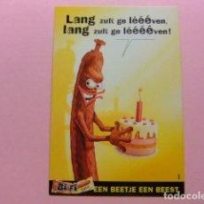Postales: POSTAL PUBLICITARIA - LANG ZULT GE LÉÉÉVEN BIFI EEN BEETJE EEN BEEST . Lote 170978712