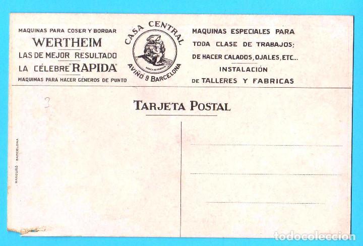 Postales: POSTAL PUBLICITARIA. WERTHEIM. MÁQUINAS PARA COSER, S/F. EXPOSICIÓN DE BARCELONA, 1929? - Foto 2 - 171107873
