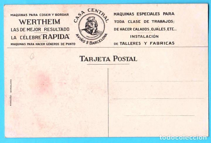 Postales: POSTAL PUBLICITARIA. WERTHEIM. MÁQUINAS PARA COSER, S/F. EXPOSICIÓN DE BARCELONA, 1929? - Foto 2 - 171108077