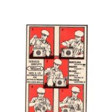 Postales: WILLARD BATERIAS.- DADO A LOS AUTOMOVILISTAS POR AUTO ELECTRICIDAD. POSTAL PUBLICIDAD.. Lote 171120828
