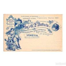 Postales: FÁBRICA. ANG.LO.& G.PPE. FRATELLI BOTTACIN. VENEZIA. POSTAL PUBLICITARIA.. Lote 171121959